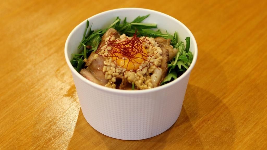 ローストビーフ納豆丼